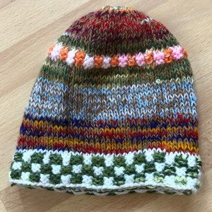 Colorful woven beanie